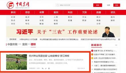 """""""榜样""""案例!中国农业新闻网报道 种业集团创建""""山地变粮仓""""样板事迹"""