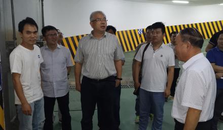 杭州市人防办党组书记、主任裘新谷 来集团公司九堡项目调研检查